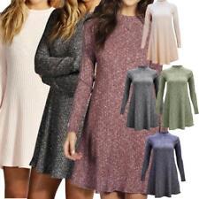 Robe tunique gris en polyester pour femme