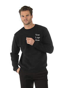 Personalised Embroidered Mens/Ladies Sweatshirt, Text/Name, XS-6XL, 9 Colours!!!