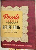 Presto Cooker Recipe Book-1940's UK Version-Models 404, 406 & 604-Collectors