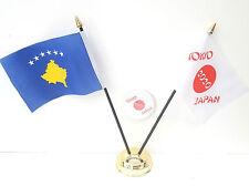 Kosovo & Tokyo Japon Olympiques 2020 Bureau Drapeaux & 59mm Lot de Badges