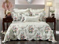 Bianca Rosedale Multi Bedspread Set Green