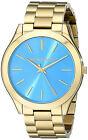 Orologio Michael Kors da donna Collezione Slim Runway MK3265 Quadrante azzurro