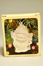Hallmark: Frosted Images - Waiving Snowman - 1983 Classic Ornament