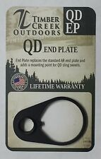 TIMBER CREEK OUTDOORS QUICK DETACH END PLATE - CERAKOTE BLACK - QD EP