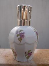 Lampe berger Paris porcelaine Limoges decor fleurs violettes