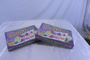 Lot of 2 Colors & Shapes Bingo Games 3-36 Players Each Age 4+