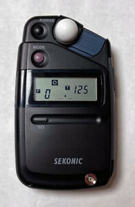 Sekonic Flashmate L-308B Light Exposure Meter with case (no manual)