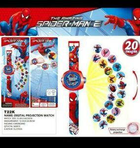 Spiderman Watch Spiderman Frozen Kids Children Digital Projector Watch 20 images