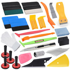 PRO Vehicle Wrap Vinyl Tools Kit Felt Squeegee Razor Wrapping 4 Magnets Combo