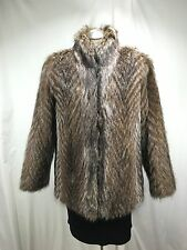 Free Shipping Warmth Luxury Large Size Natural American Raccoon Lady Fur Jacket