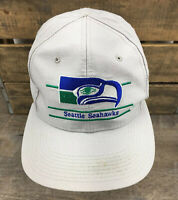 Seattle Seahawks Vintage Annco Split Bar Snapback Hat Retro 90s NFL Gray V