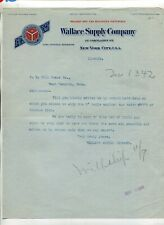 Vintage Letterhead WALLACE SUPPLY Railway Car Builders Materials 1909 NYC