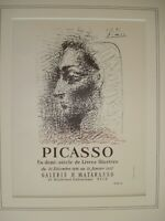 Picasso,original vintage exhibition poster,hand signed.mated