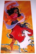SIGNED Giclee Lithograph ESMERELDA & DJALI by ERIC ROBISON art print Disney