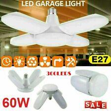 Deformable Led Garage Lights Bulb E27 Foldable Ceiling Fixture Work Shop Light