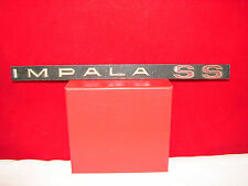 Vintage IMPALA SS Script Emblem Grille Nameplate Ornament Trim RARE OLD