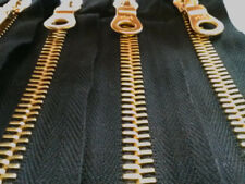 2 riri Pocket Zippers 7 inches 8MM Black with Gold Teeth