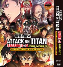 DVD ATTACK ON TITAN SEASON 1-3 (Part 1 & 2) VOL 1-59end +JUNIOR HIGH +9 SPECIALS