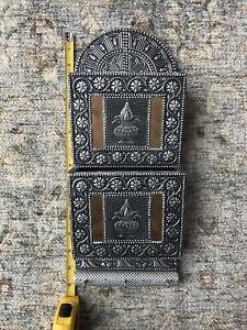 Vintage Metal Mail Organizer Letters Mid-Century Modern 2 Slot Copper Plants