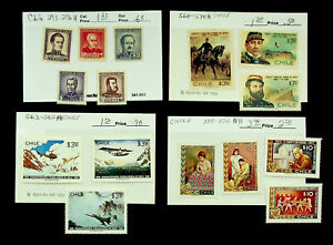 CHILE FAMOUS PEOPLE AIR FORCE 15v MINT STAMPS