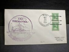 USS TUSCALOOSA CA-37 Naval Cover 1934 SHAKEDOWN CRUISE Cachet BARBADOS