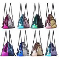 Drawstring Sequin School Bag Gym Swimming PE Bags Unisex Girls Beach Trend Nice