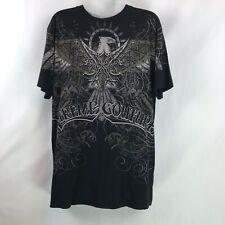 Xtreme Couture Mens Shirt Size L Black Tee Streetwear