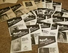 Doll Crafter Poissot Lot Of 31 Unused Patterns 1988-2003 +5 other doll patterns