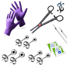 LionGothic Piercing Kit 20G Ear Studs Surgical Steel - 13 Pieces