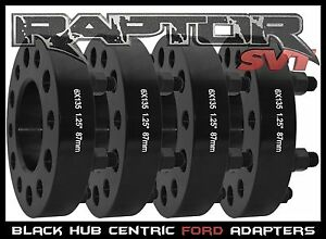 "4 PC FORD F-150 BLACK 1.25"" HUB CENTRIC WHEEL SPACERS ADAPTERS RAPTOR EXPEDITION"