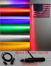 4 feet Led light bulb whip with American flag Quick Release- 6 color available