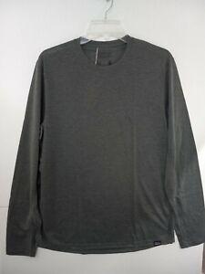 Patagonia Capilene Cool Trail Shirt Men's Medium Forge Gray Long Sleeve NWT $49
