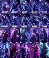 Marvel Avengers Endgame Infinity War Hero Poster Iron Man Thor Hulk 11x17 13x19