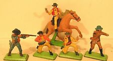 "lot figurines DEETAIL britains "" cow boy "" X5 à restaurer vintage"