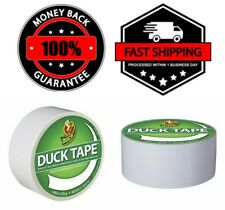 """New listing Duck 1.88"""" x 20 Yards Winking Tape Rolls White Adhesive Duct Tape Flex Lot New"""