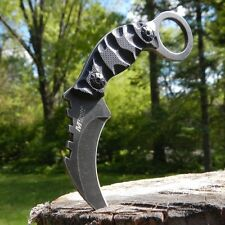 "4.5"" TACTICAL SURVIVAL Fixed Blade NECK KNIFE G10 Karambit Claw w/ SHEATH"