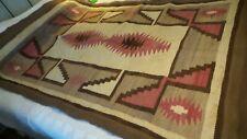 "Antique Woven RUG, BLANKET Native American Design,Southwest, 44""x66"""