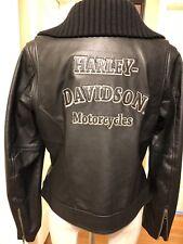 Harley Davidson Maven Black Leather Moto Jacket Women L Large # 97010-08VW Biker