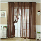 Tulle Door Window Decoration Curtain Drape Panel Sheer Room Scarf Valance