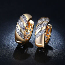 Vintage Jewelry Cubic Zirconia Wedding Party Hoop Huggie Earrings Women Cheap