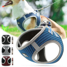 Reflective Pet Dog Harness and Leash Soft Mesh Padded Walking Vest Lead XS-XL