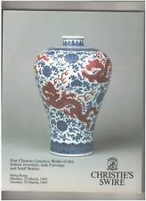 Christie's Catalog, Fine Chinese Ceramics, Hong Kong, March 1993