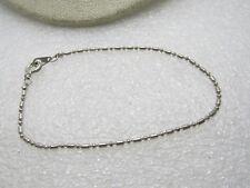 "Vintage Ball Chain Bracelet, 7.5"", Silver Tone, Spring Clasp"