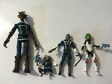 MARVEL LEGENDS GUARDIANS OF THE GALAXY ROCKET,GROOT, GAMORA, STAR LORD LOOSE