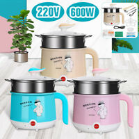 600W 1.8L Multifunction Electric Rice Cooker Eggs Steamer Cooking Heating Pot