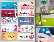 66 x custom name school waterproof label Princess girls stickers E4