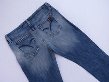 *A-091 LADIES JOES USA MADE DISTRESSED BLUE DENIM JEANS SIZE W-29