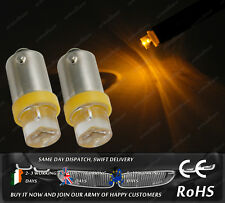 LED Bax9S H6W 433 434 Amber Yellow Orange Interior Dash Speedo Bulbs Lights 12V