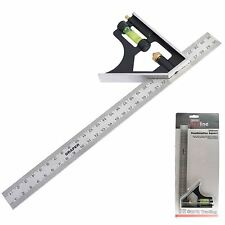 Draper 300mm Adjustable combination Engineers  Carpenter Try square 81139 12""