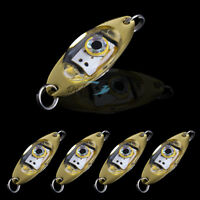 5 Sea Coarse Fishing Tackle Flash LED Pike Salmon Spinner Spoon Trolling Lure